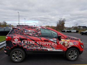 crime stoppers vehicle wrap